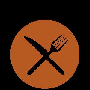 Essen Icon von der Speisekarte