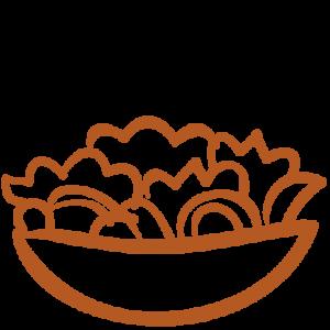 salat Icon von der Speisekarte